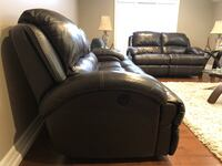 Dark brown leather recliner sofa set New Tecumseth, L9R 1N9