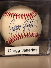 Greg Jeffries Autograph Baseball