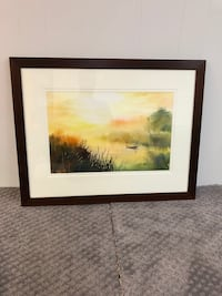 brown wooden framed painting of trees Toronto, M6C 2N8