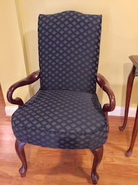 Blue padded armchair( Bombay) Germantown, 20874