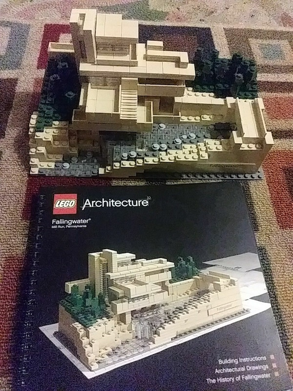 Used White Gray And Black Lego Architecture Fallingwater With Box