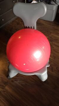 Exercise ball with chair  Surrey, V3R 1W5