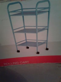 Blue Rolling Cart. NEW IN BOX Medal
