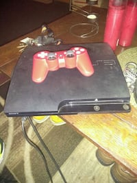 black Sony PS3 slim console with controller Kentwood, 49548