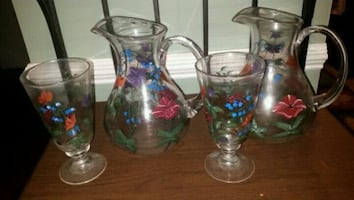 Pitchers and glasses