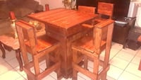 wood bistro table with four chairs  2337 mi