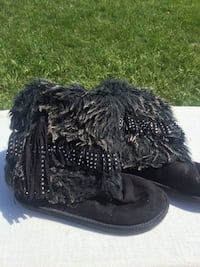 Girls justice furry boots