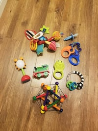 Baby toys and teethers lot
