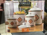 Brand new in box set of 4 Corelle canisters New Westminster, V3L 1E7