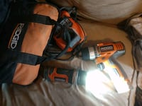 Drill flashlight two batteries and charger Stockton, 95206