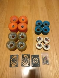 Skateboard wheels, raisers and screws Vaughan, L4H 3E1