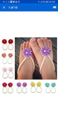 Red Infant Barefoot Sandals  New Orleans, 70127