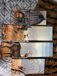 4 panel stretched canvas-deer