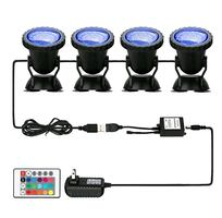 Pond Lights, 36 LED Waterproof 4 Pack Multi-color w Remote NEW ½ PRICE