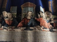 Silk weave of the last supper with Jesus Rancho Viejo, 78575