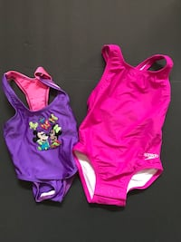 two toddler's purple and pink monokinis Мишн-Вьехо, 92691