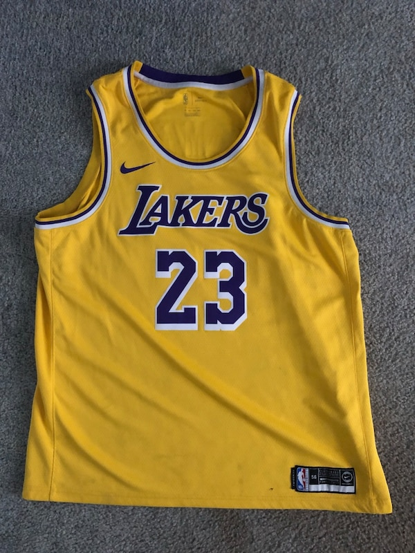 half off 9b730 65d55 Nike Lakers Jersey Lebron James