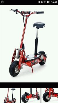 E-scooter for voksne (125 kg/30 km/t)