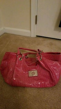 pink crocodile skin leather handbag Woodbridge, 22193
