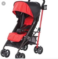 baby's red and black stroller Hamilton, L9B 1W0