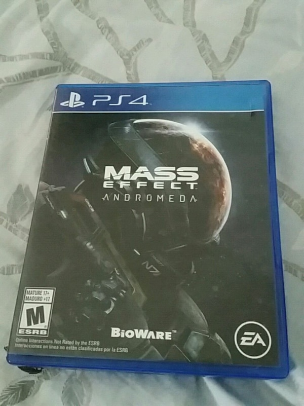 Mass Effect Andromeda PS4 game case