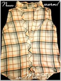 white, black, and yellow plaid shorts Grande Prairie