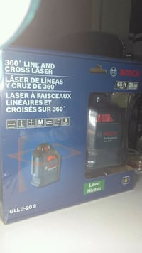 Bosch 360 degree line and cross laser level Brand new