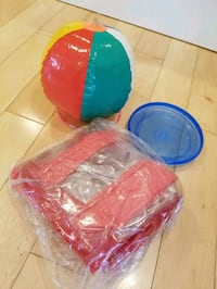 Inflatable beach ball and chair plus a frisbee Los Angeles, 90036