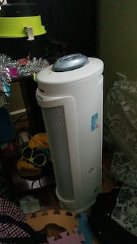 white portable space heater