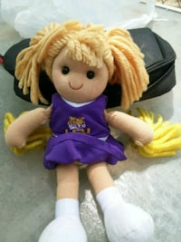 brown haired girl doll in purple dress Laurel, 39443