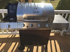 New 4-Gas Propane Grill with side Burner and Grill cover