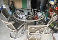Cast Aluminum Dining Table Sarasota