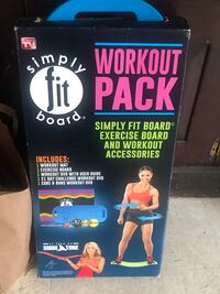 Simply fit board with workout accessories pack- New