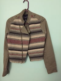 brown and white striped zip-up jacket Markham, L3P 2S3