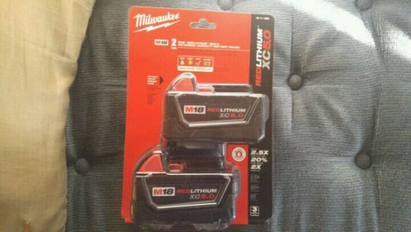 Milwaukee 18v 5.0 amp batteries