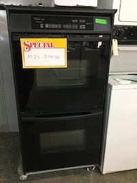 Whirlpool black double oven  Pompano Beach, 33069