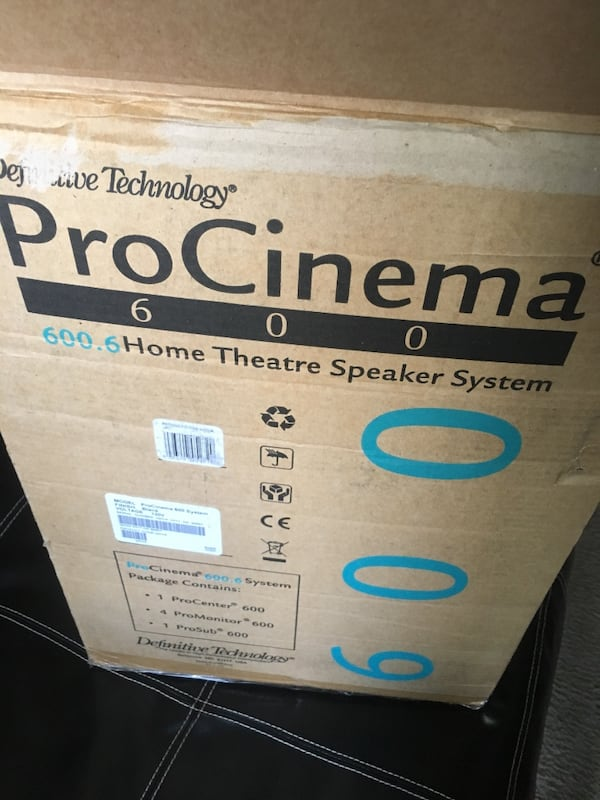 Procinema 600 home theater speaker system. 7