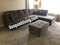 Brand New Large Brown Sectional With Storage Ottoman-VanquishLiving Houston, 77074