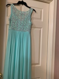 women's teal and silver sleeveless dress Frederick, 21703