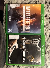 Two xbox one games Gaithersburg, 20879