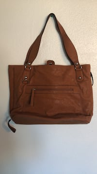 brown leather 2-way handbag Lodi, 95242