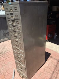 Black and gray metal tool cabinet Toronto, M6J 3J9