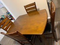 Ashley Dining room table with four chairs
