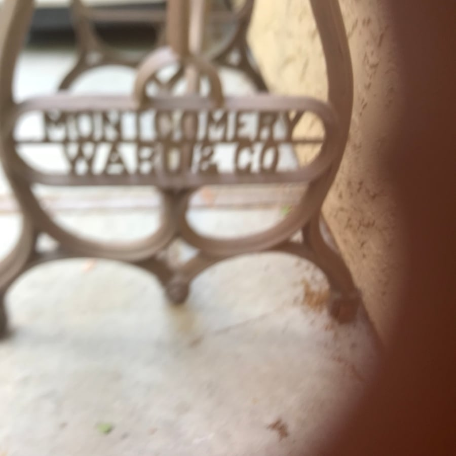 Montgomery Ward sewing machine stand a64b0831-101a-497a-a609-c6fbe95055c3