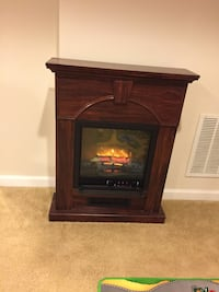 Brown wooden framed electric fireplace Abingdon, 21009