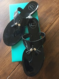 Jack Rogers black size 9 Alana jelly. Purcellville, 20132