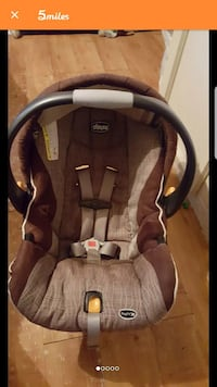 brown and black Chicco car seat carrier