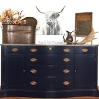 Refinished Antique Duncan Phyfe | Buffet | Dresser | Sideboard | Console | Navy Blue | Conroe, 77385