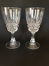 2 crystal water glasses Peabody, 01960
