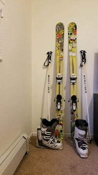 K2 skis, boots and poles